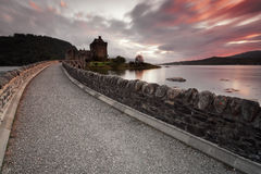 Eilean Donan Castle VI. Castle by night, Isle of Skye, Scotland, UK Stock Photos