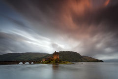 Eilean Donan Castle VII. Castle by night, Isle of Skye, Scotland, UK Royalty Free Stock Images