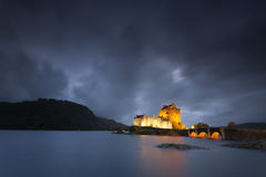 Eilean Donan Castle VIII. Castle by night, Isle of Skye, Scotland, UK Stock Photo