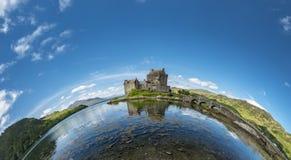 Eilean Donan Castle during a warm summer day - Dornie, Scotland stock photography