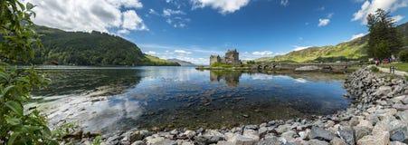 Eilean Donan Castle during a warm summer day - Dornie, Scotland royalty free stock photography
