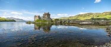 Eilean Donan Castle during a warm summer day - Dornie, Scotland stock photos