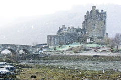Eilean Donan Castle in winter Royalty Free Stock Photos