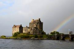 Eilean Donan sul lago Duich Fotografia Stock