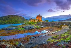 Eilean Donan twilight Royalty Free Stock Photography