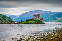 Eilean Donan. A view of the famous Eilean Donan Castle in the western Highlands of Scotland Stock Photo