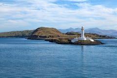 Eilean Musdile Leuchtturm Stockfoto