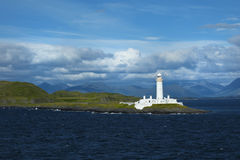 Eilean Musdile lighthouse near Oban in Scotland Stock Photos
