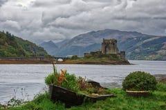Eileen Donan Castle in the rain Royalty Free Stock Photo