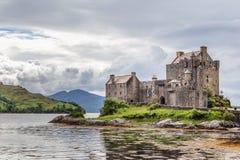 Eileen Donan Castle, Scotland. Eilean Donan Castle stands on a small tidal island where three sea lochs meet - Loch Duich, Loch Long and Loch Alsh. Dating from Royalty Free Stock Photos