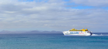 Eilfähre der Kanarischen Insel Stockfoto