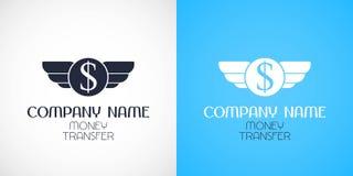Eilgeldüberweisungsvektorlogo, Ikone, Symbol Stockfotografie