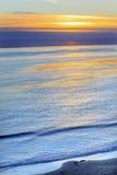 Eilwood Mesa太平洋日落Goleta加利福尼亚 图库摄影