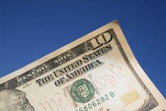 Ein 10 Dollarschein Stockbild