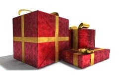 Ein 3D übertragen von den Geschenken Stockfoto