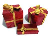 Ein 3D übertragen von den Geschenken Stockfotos