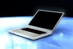 Ein 3D übertragen von einem Laptop Lizenzfreie Stockbilder