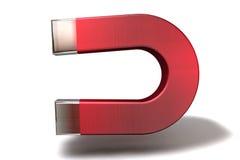 Ein 3D übertragen von einem Magneten Lizenzfreies Stockbild