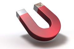Ein 3D übertragen von einem Magneten Lizenzfreie Stockbilder
