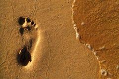 Ein Abdruck im Sand Stockfotografie