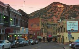 Ein Abend in Bisbee während der Feiertage Lizenzfreies Stockfoto