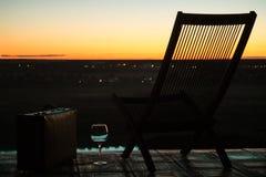 Ein Abend in einem alten Hotel Stockfotos