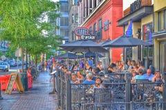Ein Abend in im Stadtzentrum gelegenem Boise lizenzfreie stockfotos
