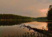 Ein Abend ist in Lettland 2016 Lizenzfreies Stockfoto