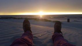 Ein Abend am Strand stockbild