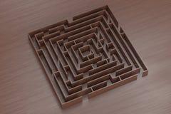 Ein Abschluss herauf abstraktes Bild eines Labyrinths des Holzes Lizenzfreies Stockfoto