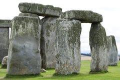Ein Abschluss oben von Stonehenge Lizenzfreie Stockfotos