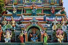 Ein Abschnitt des Naga Pooshani Ambal Kovil auf Nainativu-Insel in der Jaffna-Region von Sri Lanka stockbild