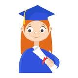 Ein Absolvent mit einem Diplom Stockfotografie