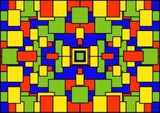 Ein abstrakter geometrischer Hintergrund von farbigen Quadraten Stockbilder