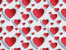 Ein abstrakter Hintergrund der Liebe, Vektor stock abbildung