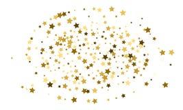 Ein abstrakter Hintergrund Konfettifeier, fallende goldene abstrakte Dekoration für Partei, Geburtstag feiern, der Jahrestag oder vektor abbildung
