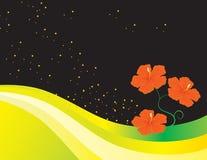 Ein abstrakter Hintergrund mit Blumen lizenzfreie abbildung