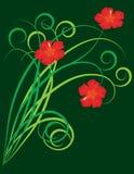 Ein abstrakter Hintergrund mit Blumen vektor abbildung