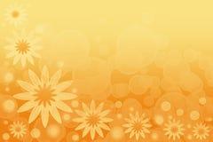 Ein abstrakter Sommerhintergrund mit gelben Blumen Stockfotos