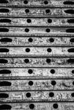 Ein abstraktes Schwarzweiss-Muster von Ovalen, von Linien und von Kreisen stockfotografie
