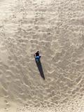 Ein alleinmann in der Wüste Lizenzfreies Stockbild