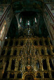 Ein alter Altar in der Annahme-Kathedrale Lizenzfreies Stockbild