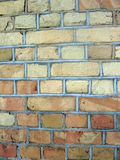 Ein alter Backsteinmauerhintergrund Stockbild