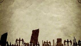 Ein alter Brief aus dem Schlachtfeld stock footage