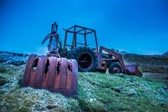 Ein alter Exkavator Stockfotos
