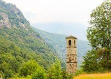 Ein alter Glockenturm vom letzten Jahrhundert stockfoto