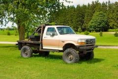 Ein alter LKW für Verkauf in Kanada Lizenzfreies Stockfoto