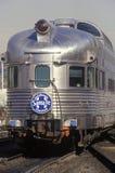 Ein alter Pullmanwagen von der Santa Fe-Eisenbahnlinie, Los Angeles, Kalifornien Lizenzfreie Stockfotos