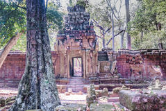 Ein alter Tempel in Angkor Lizenzfreie Stockfotos