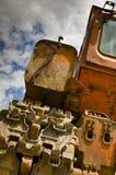 Ein alter verfallener LKW Stockbild